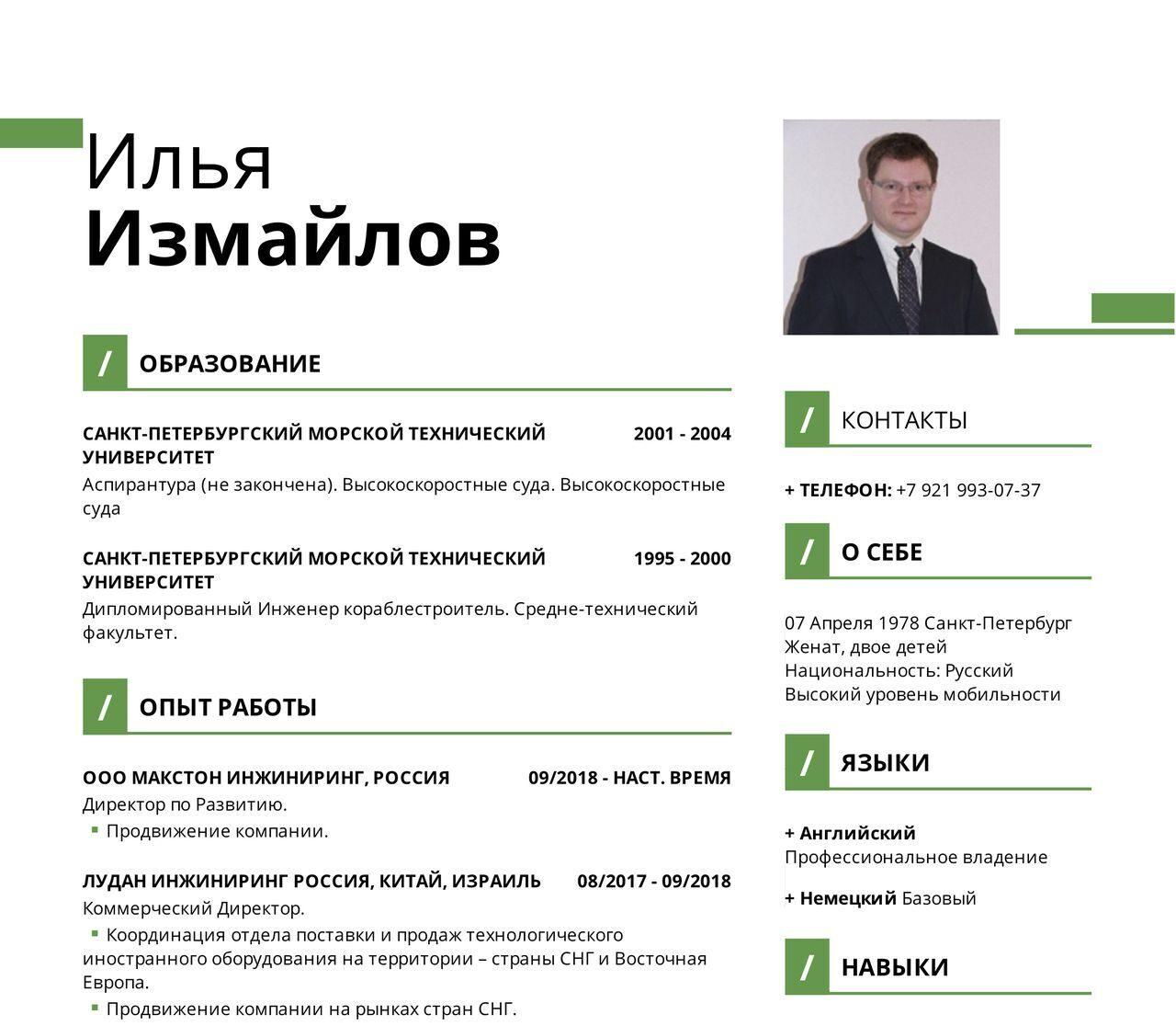 Илья Измайлов 1